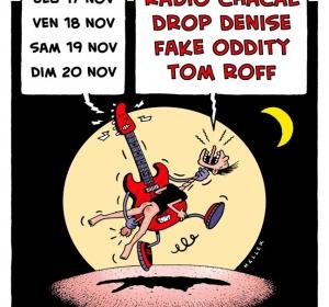 Affiche concert au Bohême café (Lyon 1er)