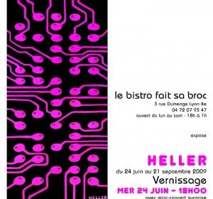 Affiche expo au Bistro fait sa Broc (Lyon 4)