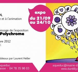 Affiche expo à l'Aqueduc (Dardilly 69)