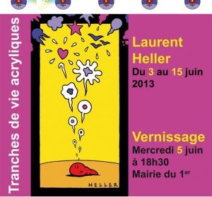 Affiche expo à la Mairie Lyon 1er arrdt