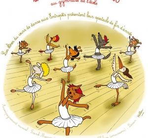Affiche pour spectacle de danse Ecole des Entrepôts