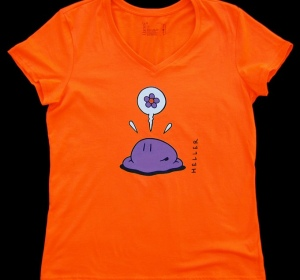 Tee-shirt Têtes orange - coupe femme