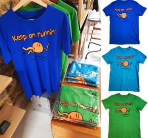 Tee-shirts Keep on runnin